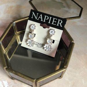 Napier clip on earrings